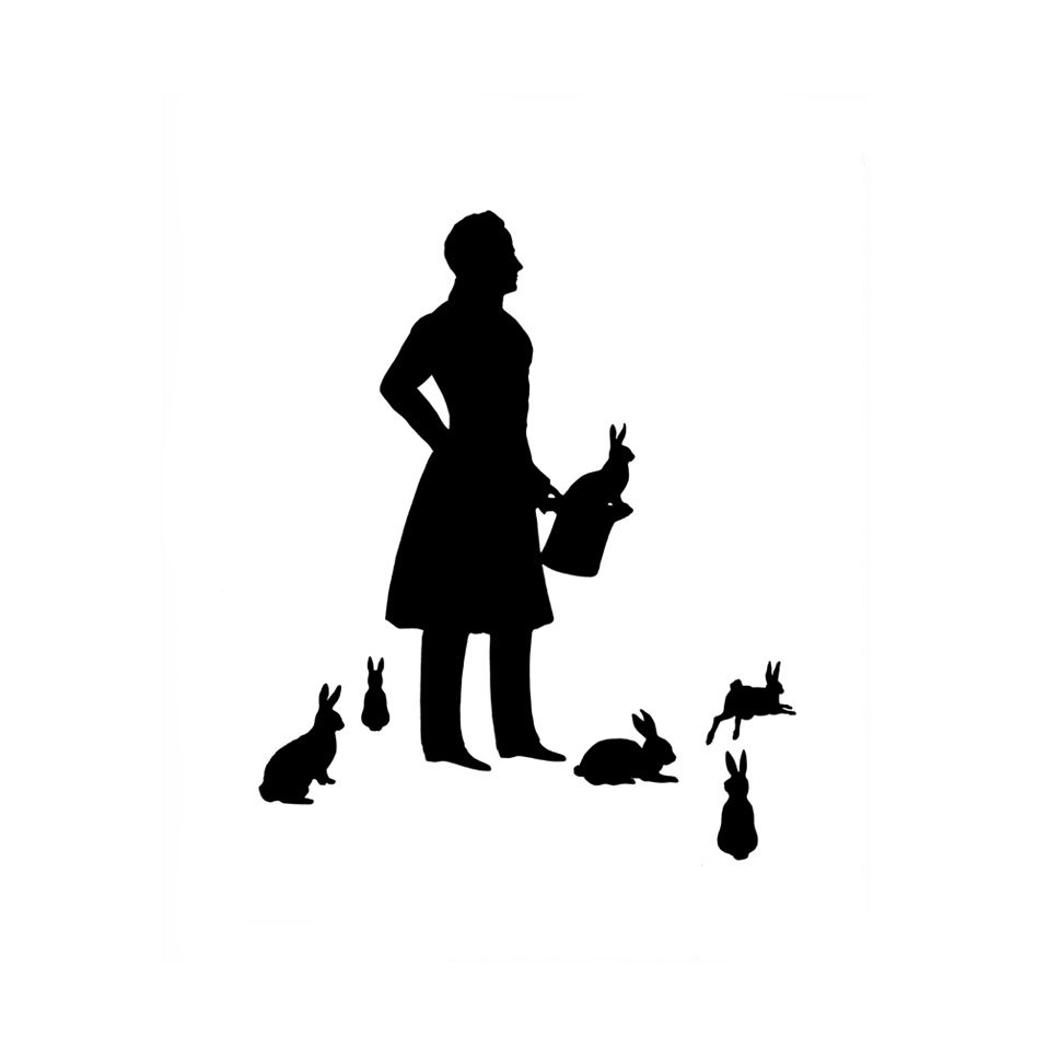 958x958 The Magician Silhouette Print Black And White Magic Rabbit