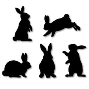 308x308 Wall Decorations Rabbit (Black),home And Living,paper Craft