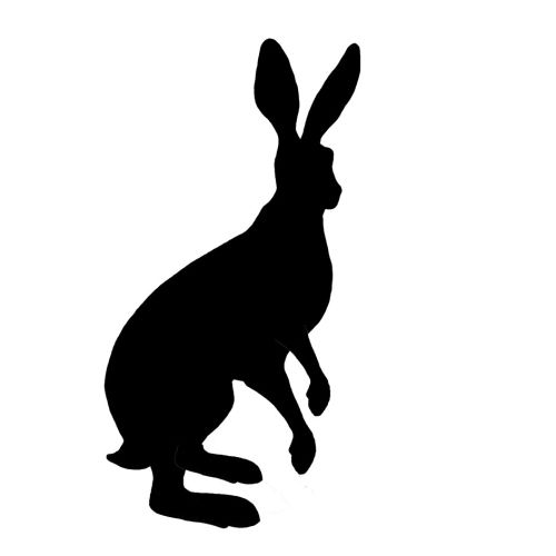 500x500 New Standing Hare Silhouettes Silhouettes, Stamps