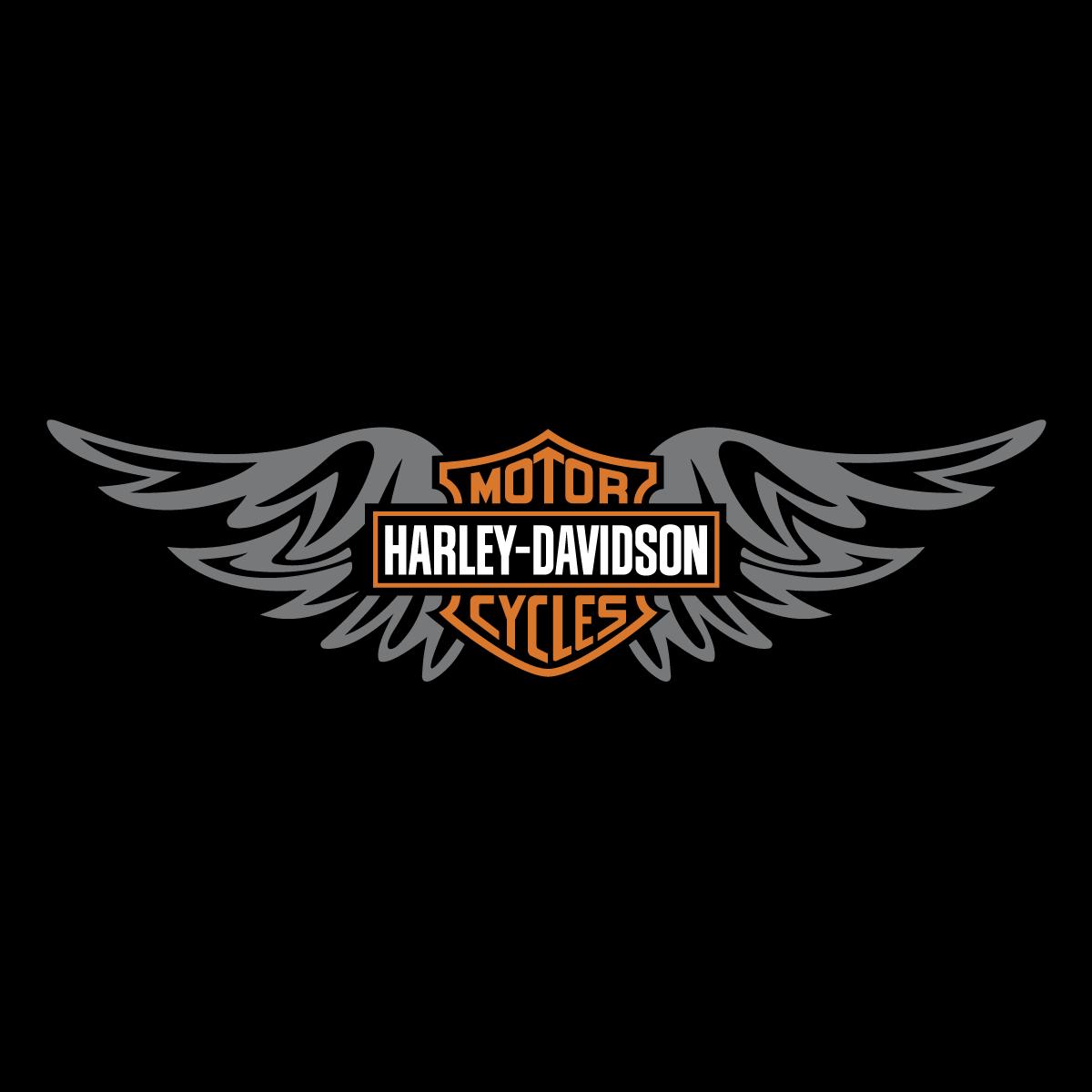 1200x1200 Harley Davidson Wings Logo Vector Decal Emblem Free Vector