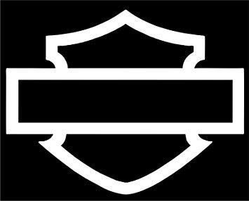 355x286 Harley Davidson Window Bar Amp Shield Silhouette Die