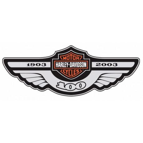 458x458 Sticker Harley Davidson Gris Noir Etiquette Amp Autocollant