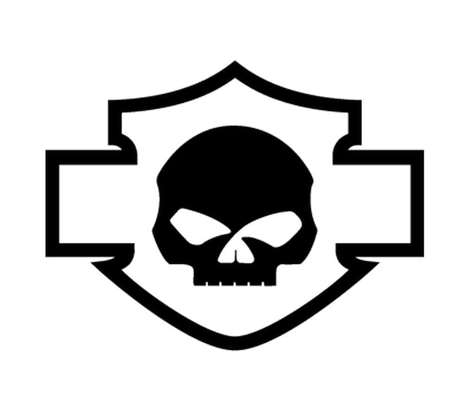 915x800 Davidson Logo Silhouette Skull Decal