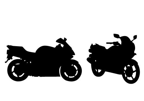 500x350 Motorcycle Silhouette Clip Art
