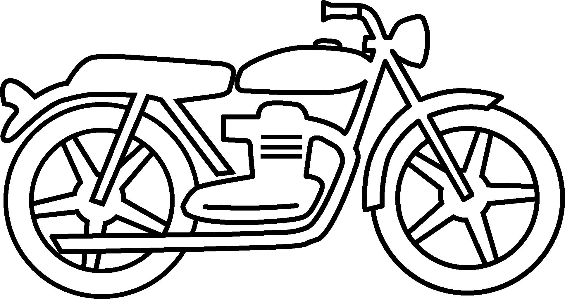 1932x1024 Motorcycle Clipart Black And White