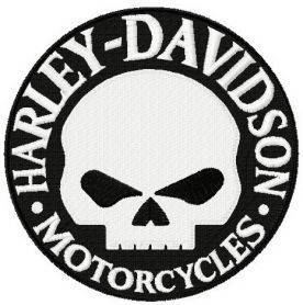 276x278 Harley Davidson Willie G Logo Embroidery Design Machine