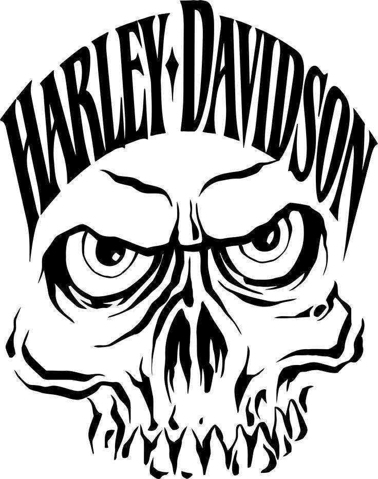 736x933 Harley Davidson And Skull Emblem Bikers Subcultures