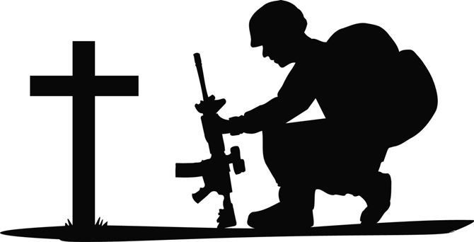 670x342 Pix For Gt Soldier Kneeling In Prayer Vinyl Cricut
