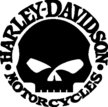 374x372 Vinilo Logo Harley Davidson Calavera Kustom Kulture