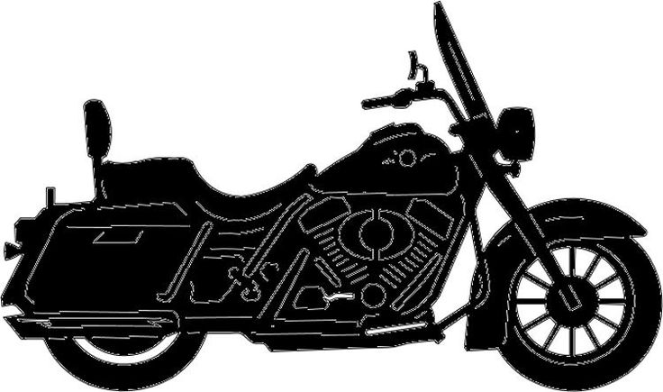 736x435 Harley Motorcycle Silhouette