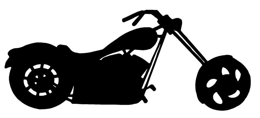 854x390 Chopper Silhouette 2 Decal Sticker