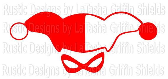 570x270 Harley Quinn Svg Amp Dxf Lady Joker Red And Black Joker Batman