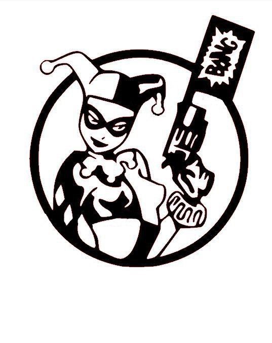 537x678 Harley Quinn Vinyl Decal My Etsy Store Harley