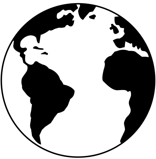 539x550 World Clipart Black And White
