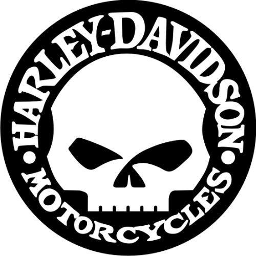 500x500 Harley Motorcycle Silhouette