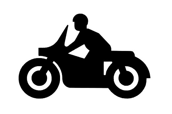 550x367 Motorcycle Silhouettes Clip Art