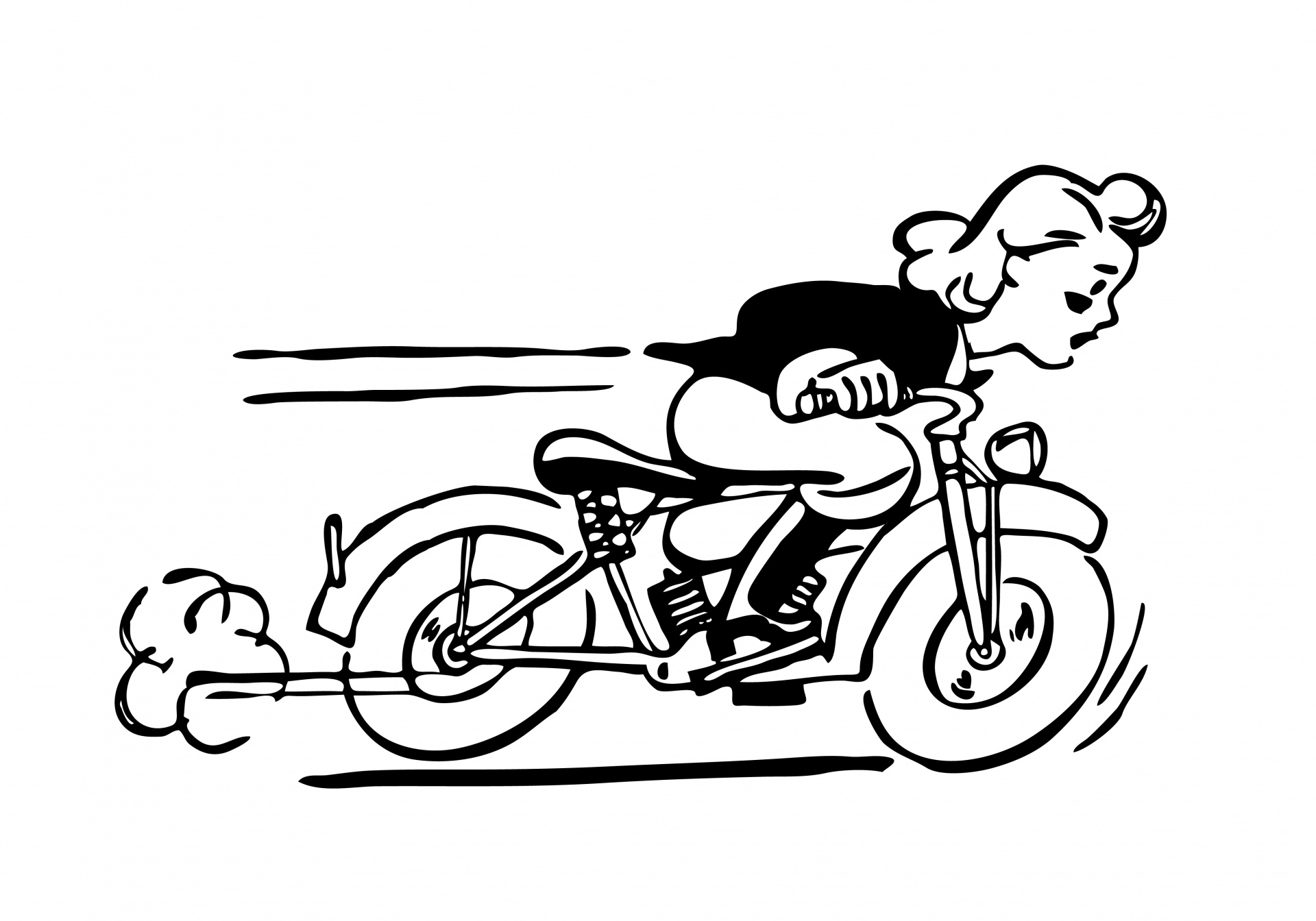 1920x1344 Motorcycle Black And White Harley Motorcycle Silhouette Vector