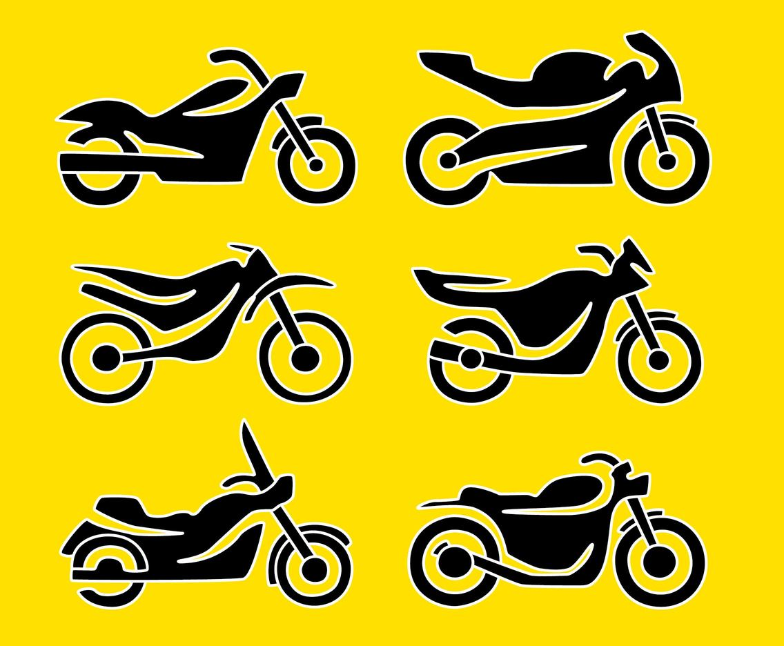 1136x936 Silhouette Motocycle Icons Vector Vector Art Amp Graphics