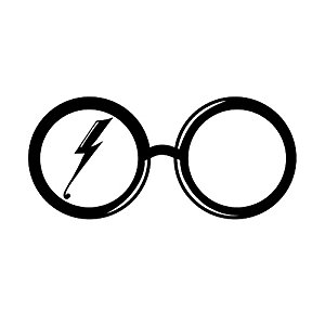 300x300 Harry Potter Glasses And Scar Silhouette