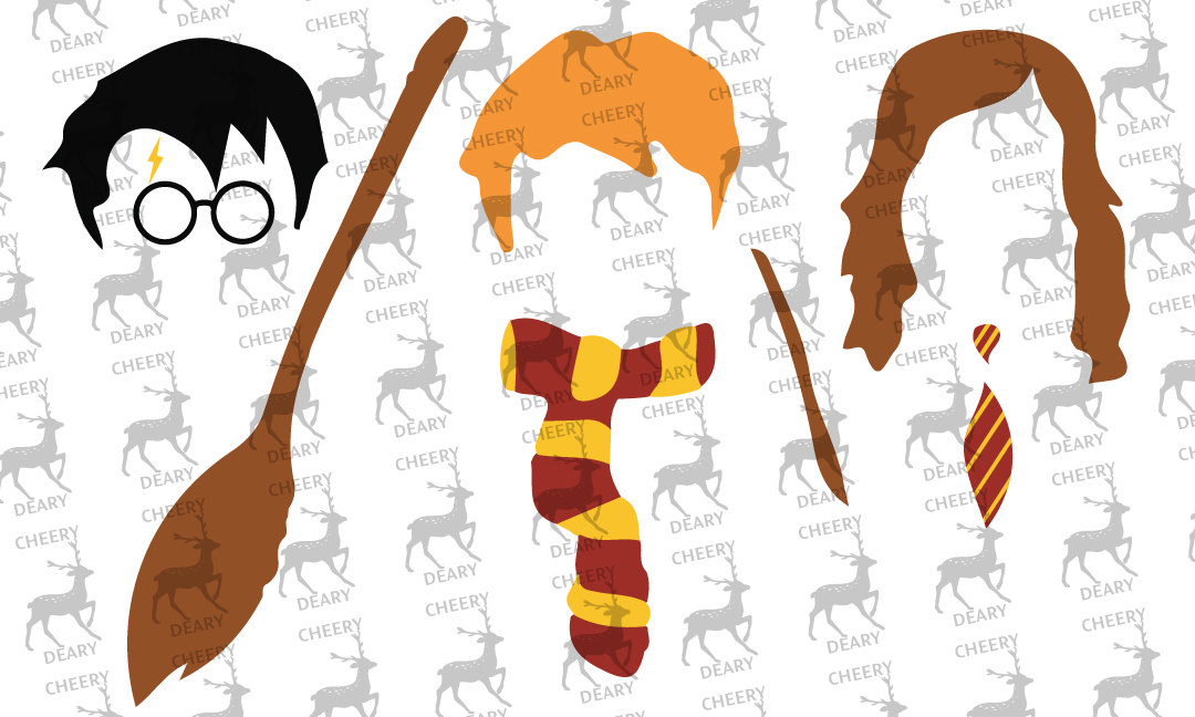 1080x648 Harry Potter Trio Harry Ron Amp Hermione Digital File Svg