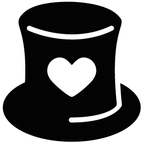 283x283 Hat Heart Silhouette Silhouette Of Hat Heart