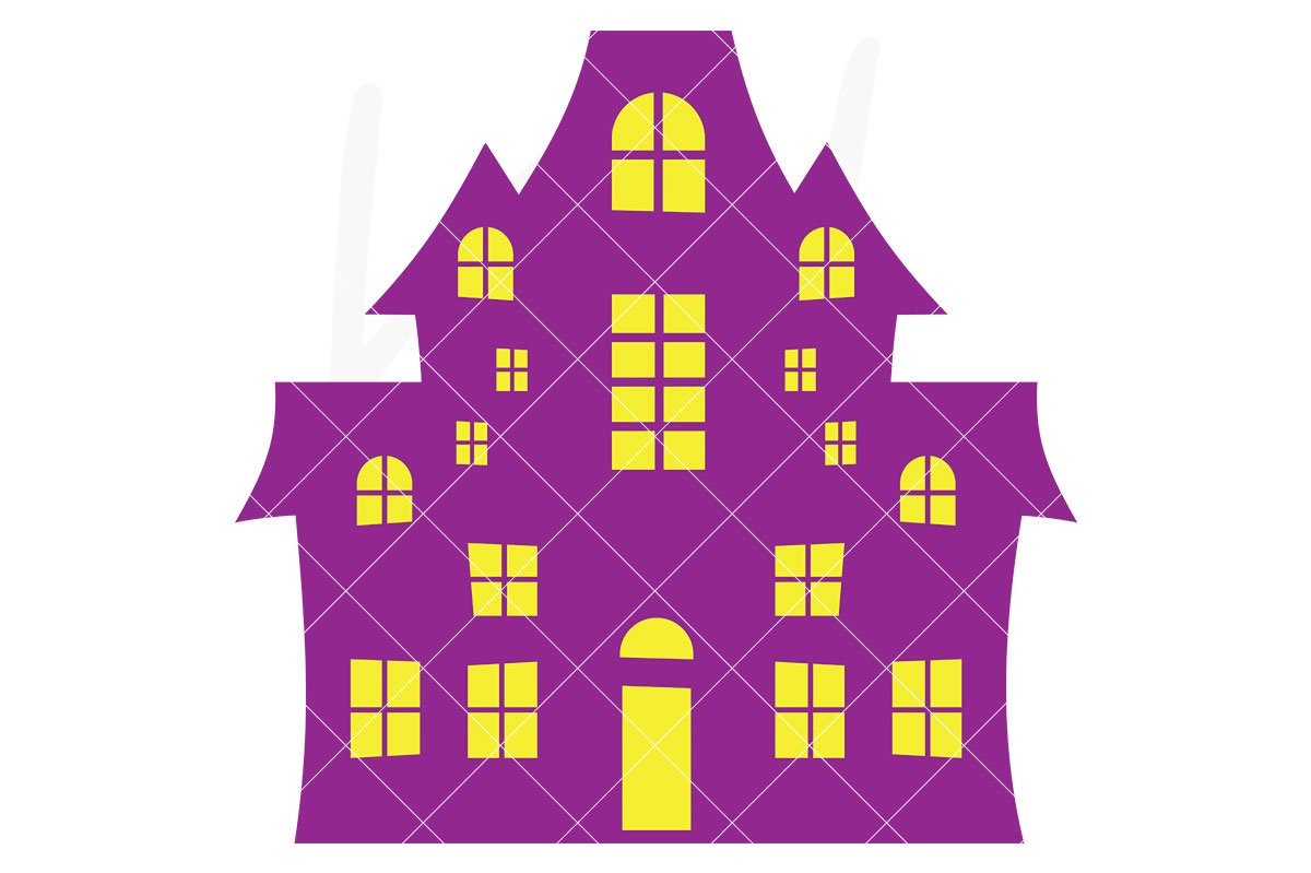 1200x799 Haunted House Svg File Kelly Lollar Designs