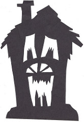 165x240 Haunted House Silhouette Halloween Decorations