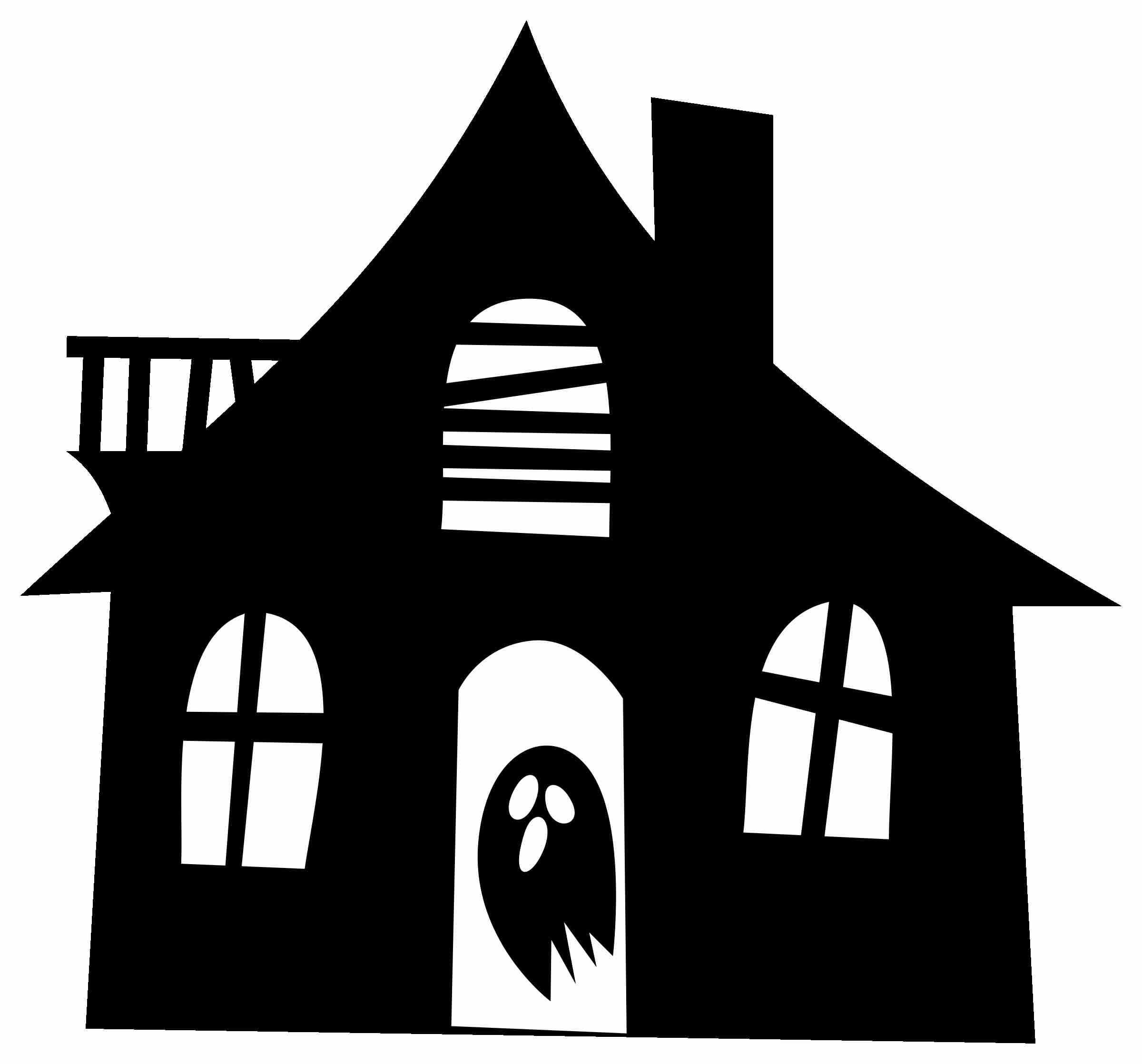 2400x2236 Clipart Haunted House Silhouette Within Png Olegratiy