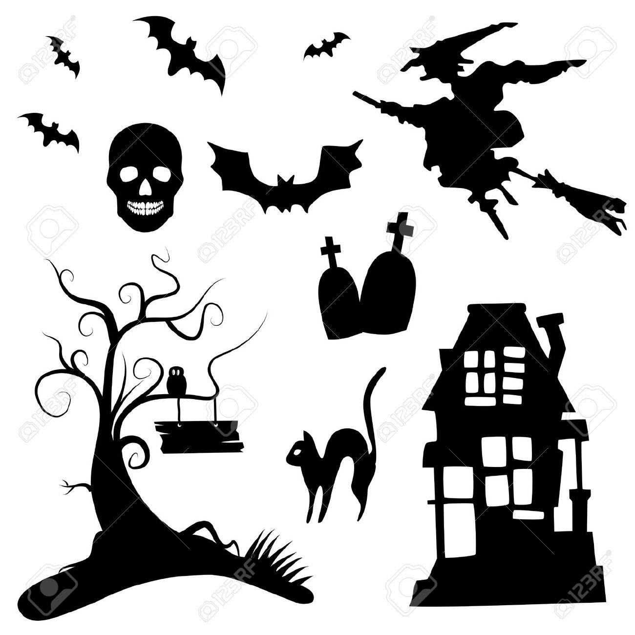 1300x1300 Halloween Window Silhouette Ideas