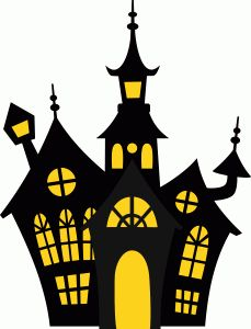 229x300 Haunted House Cardboard Cutout 1.9m Silhouettes, Haunted Houses