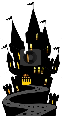 245x450 Haunted House Silhouette Clip Art