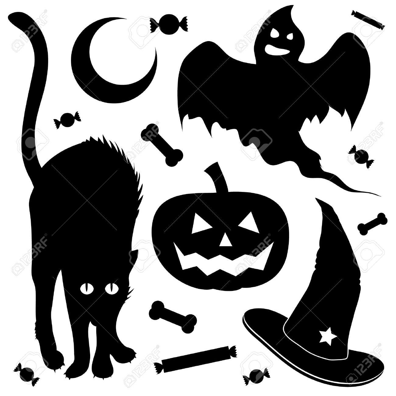 1300x1300 Black Cat Clipart Black Ghost