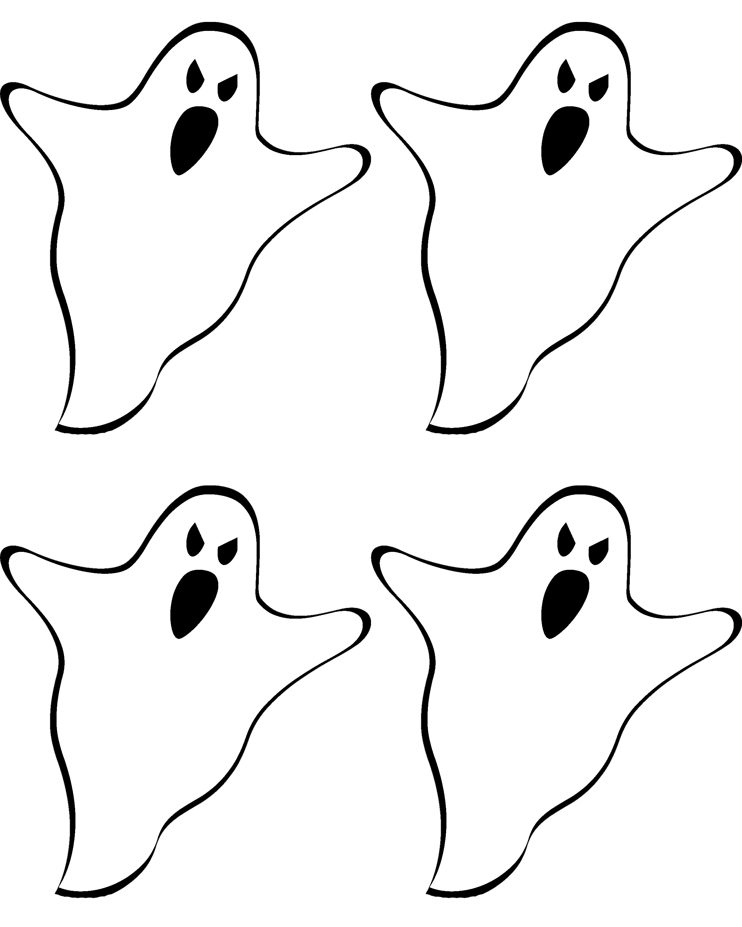 picture regarding Ghost Outline Printable named Haunted Residence Silhouette Template at  Absolutely free