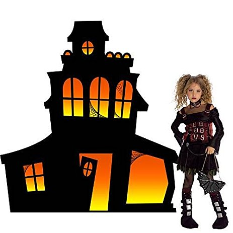 463x463 5 Ft. Small Haunted Mansion Silhouette Home Amp Kitchen