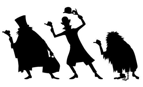 570x346 The Haunted Mansion Vinyl Decals Hitchhiking Ghosts