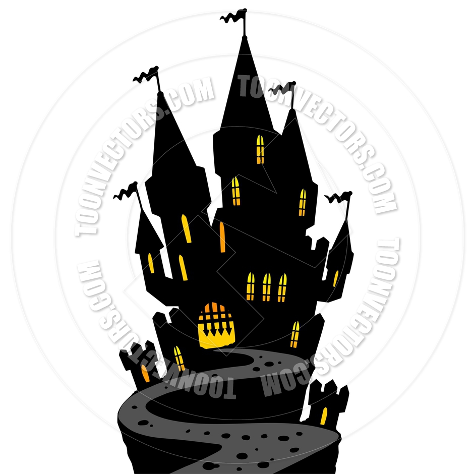 940x940 Cartoon Castle On Hill Silhouette By Clairev Toon Vectors Eps
