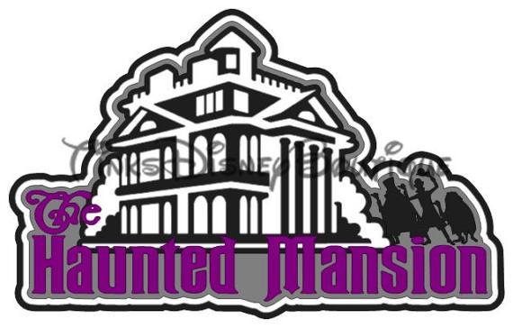 570x364 Disney Svg Clipart Haunted Mansion Title Disneyland Disney World