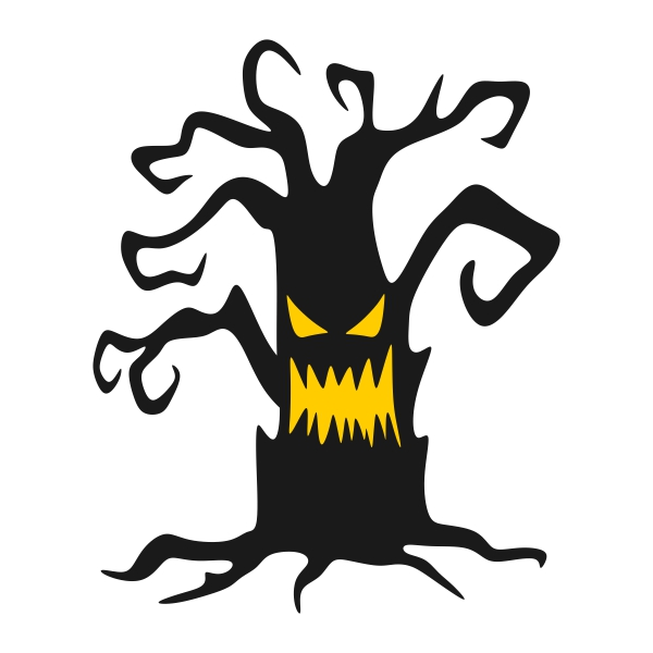 Haunted Tree Silhouette at GetDrawings | Free download