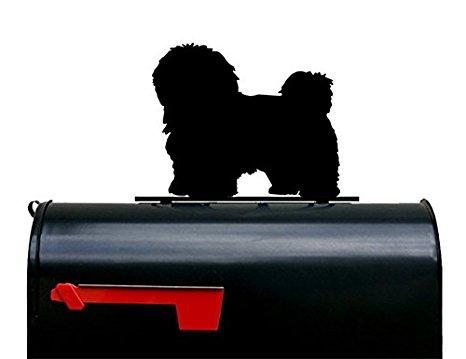 466x359 Havanese Dog Silhouette Mailbox Topper Sign Garden