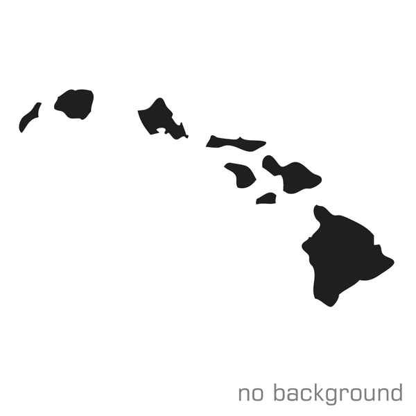 600x600 Hawaiian Islands Silhouette Decal Vinyl Sticker Hawaii Sticker