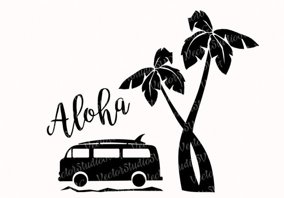 570x399 Aloha Svg Hawaii Tropical Clipart Silhouette Designs Svg Vw
