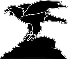 236x205 Silhouette Of Bald Eagle Stencil For Etching Bald