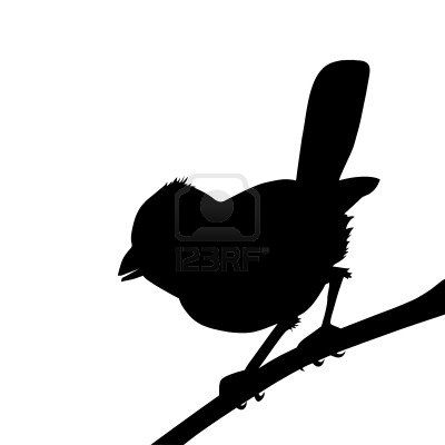 400x400 Vector Bird Silhouette On White Background, Vector Illustration