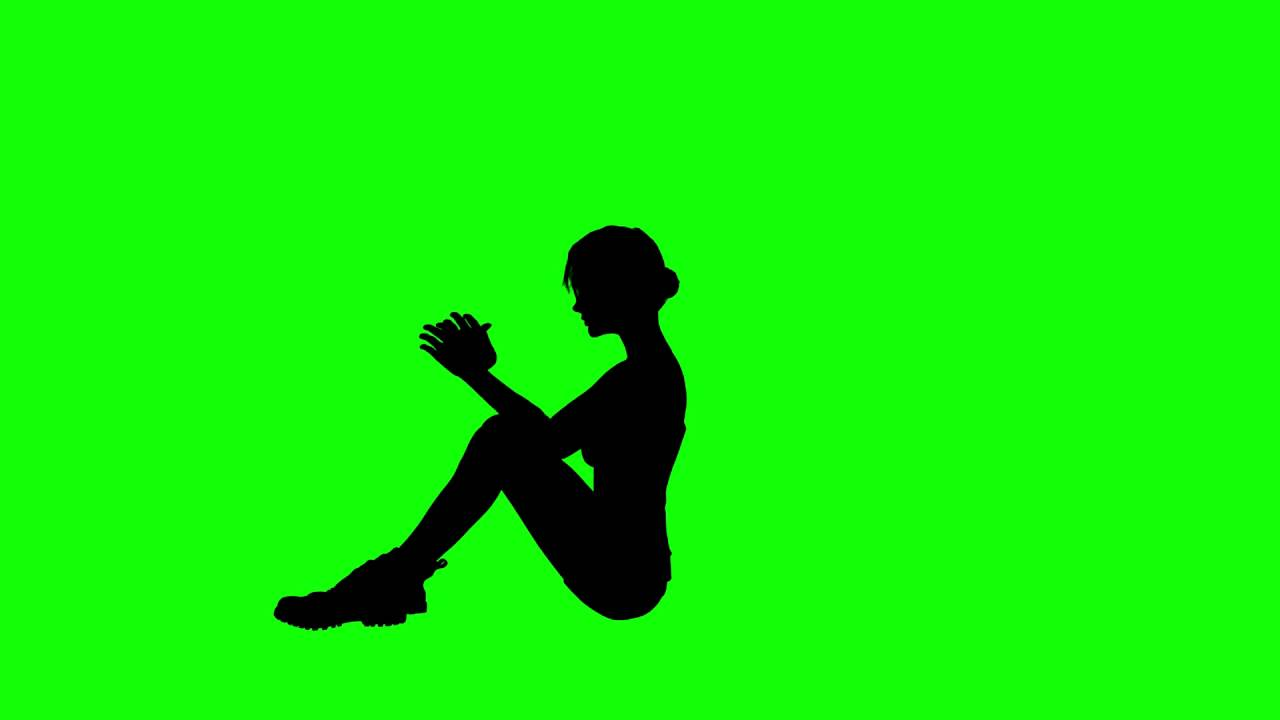 1280x720 Free Hd Video Backgrounds Athlete Woman Silhouette Exercise Sit