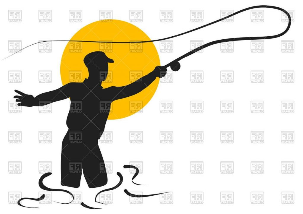 1024x724 Hd Fly Fishing Silhouette Of Fisherman Download Royalty Free