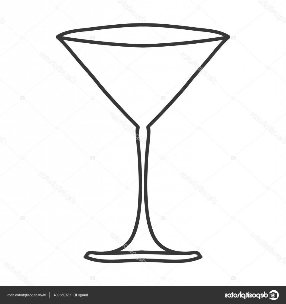 963x1024 Hd Stock Illustration Silhouette Monochrome With Martini Glass