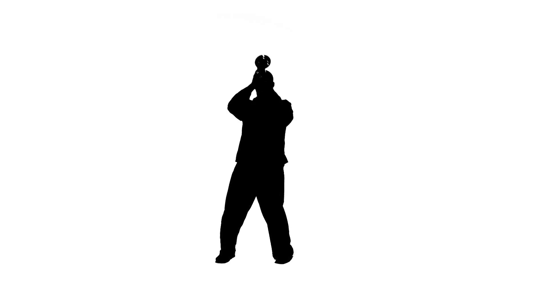 1920x1080 Man Plays The Trumpet In A Studio, Holding The Instrument Up High