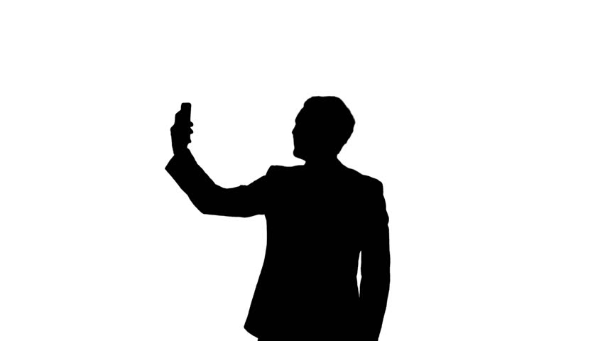 852x480 Silhouette Of Man With Gun Sneaking Around. He Is Looking