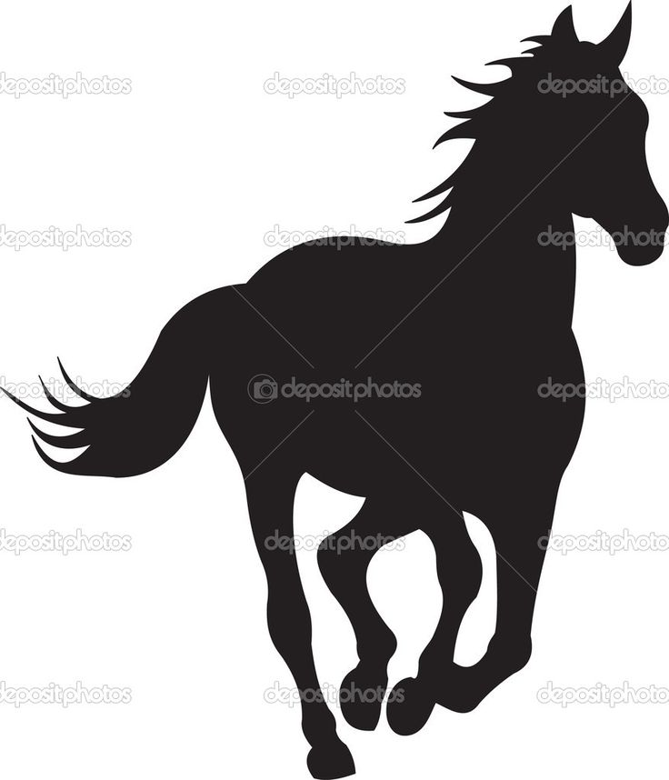 736x858 Black And White Horse Running Head And Shoulder Clipart