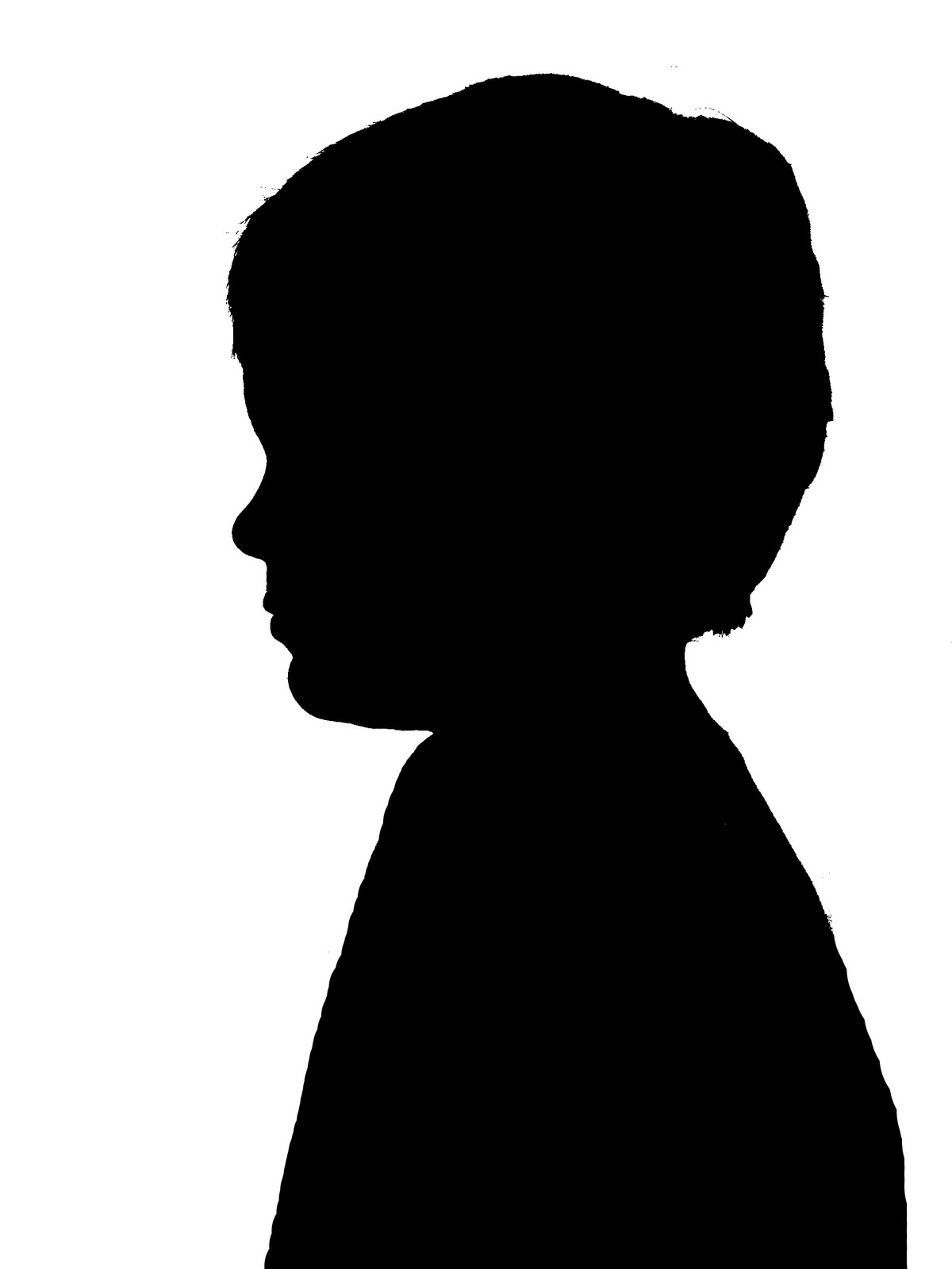 1200x1600 Boy Head Silhouette Clip Art